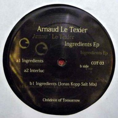 Arnaud Le Texier - Ingredients EP Jonas Kopp rmx